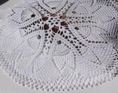 Crochet doily Round crochet doilies White handmade cotton lace doily Crocheted doilies Home decr Large crochet doily