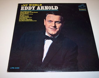 Vintage Eddy Arnold My World LP vinyl record