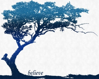"SALE Trees ""Believe"" Art Print (11x14)"