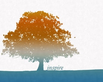 "SALE Trees ""Inspire"" Art Print (8x10)"