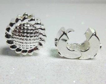 Stopper Bead For European Style Charm Bracelet - Silver Plated