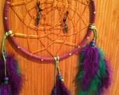 Dream Catcher purple and green swarovski