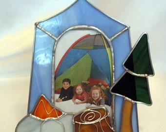 Camping picture frame