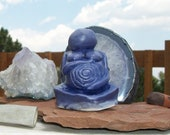 Earth Mother Purple Lavender Fertility Goddess Sculpture