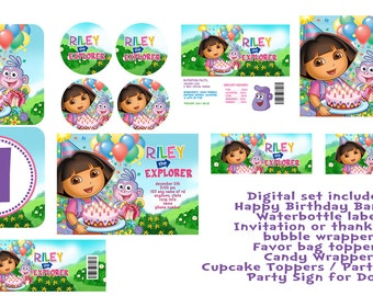 SALE Dora the Explorer Printable Birthday Party Package