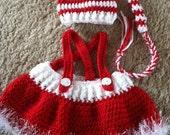 Baby Santa Hat and Skirt Pattern