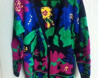 Beautiful Floral Vintage Cardigan