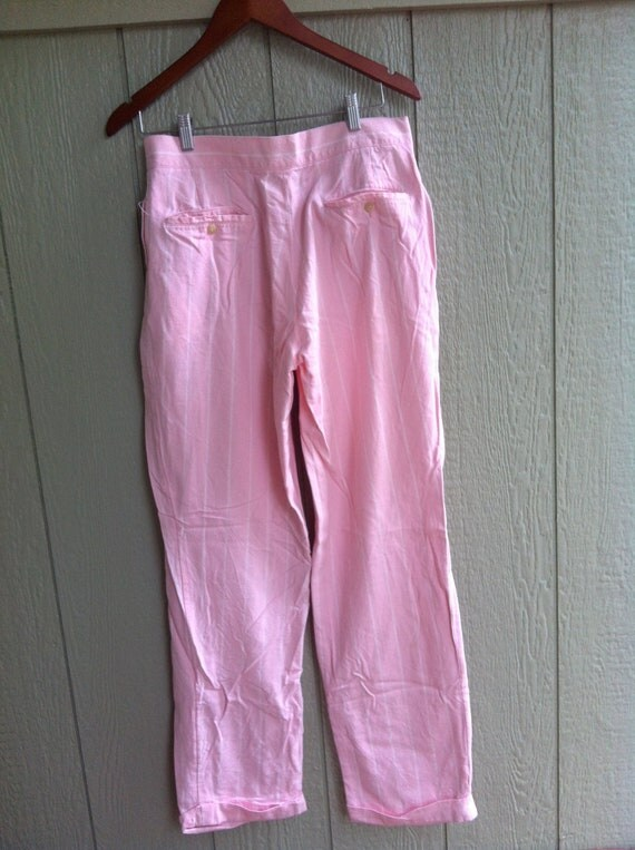 Mens Vintage Polo Pink Trousers