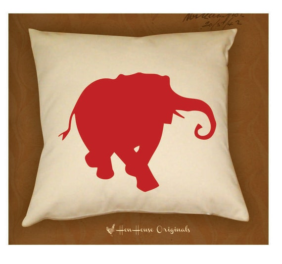 Elephant Silhouette Pillow Cover Elephant Pillow Home Decor