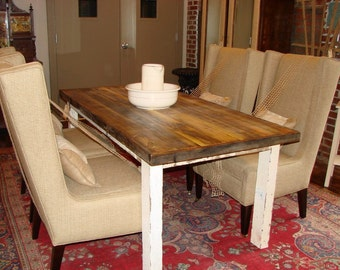 Farm Style Table, Farm House Table, Reclaimed wood table