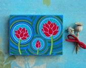 Lotus Family of Three- Wood Block Print