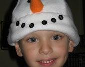 Snowman Fleece Hat Pattern