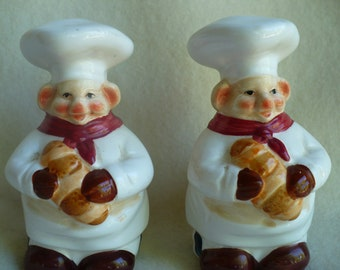 Silly Piggy Chief Salt and Pepper shakers.