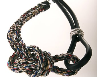 necklace from rope and rubber jewelry