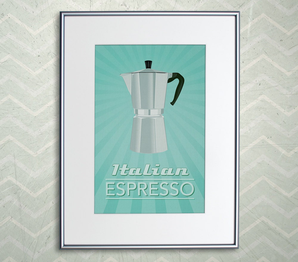 Sale Italian Espresso Coffee Print Retro Home Decor Poster
