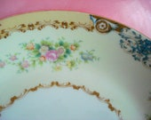 Vintage Wedding Soup Bowls Meito China Japan Shabby Cottage Chic Set of 2 Vintage Bridal Shower
