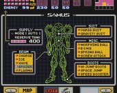 Super Metroid Status Cross Stitch Pattern