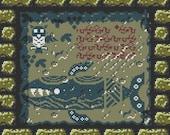 Zelda Legend of the Wind Fish Cross Stitch Pattern