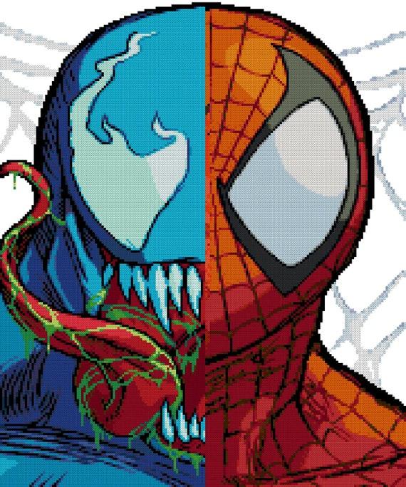 Spider-Man Vs Venom Cross Stitch Pattern