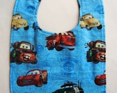 Boy Toddler Bib Cars and Brown