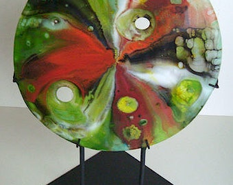 Fused Glass Sculpture - Tropic of Cancer -  CIG1817
