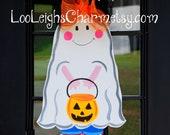 Halloween Door Hanger, Halloween Decor, Ghost Door Decoration, Fall Home Decor, Halloween Outdoor Decoration