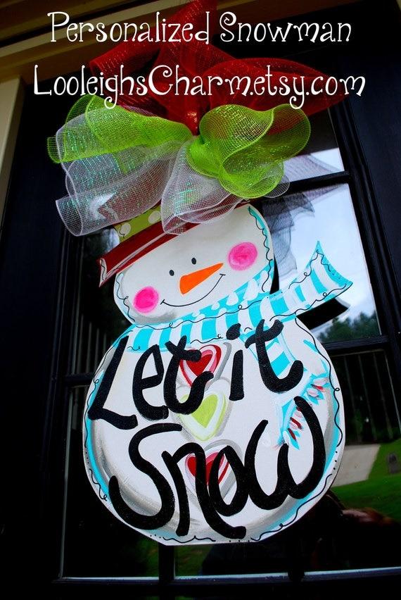 Door Hanger: Snowman, Christmas Decor, Christmas Door Hanger