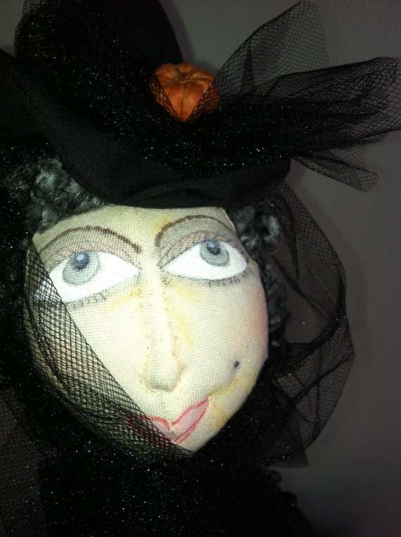Halloween Witch Doll soft sculpted
