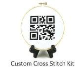 Custom QR Code Cross Stitch KIT