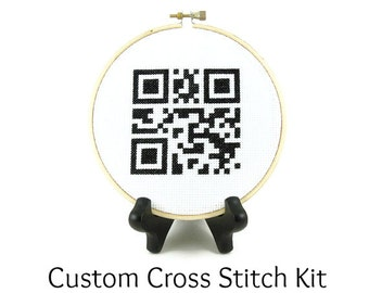 Custom QR Code Cross Stitch KIT