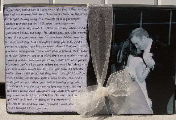 First Dance Photo and Song Lyrics... Wedding Gift..  Anniversary Gift..couple gift.. Mother's Day gift.. Father's Day gift
