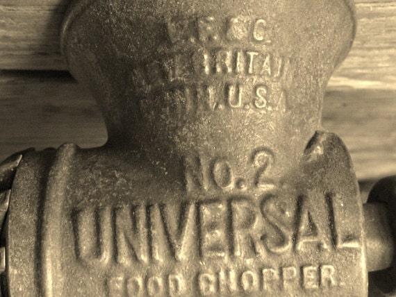 Vintage Industrial Chic Housewares Universal Black Metal Food Grinder