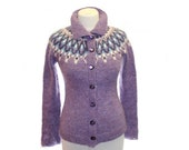 "The knitted sweater cardigan ""Bird of happiness"" / womens cardigans  / Lilac / knit cardigan/ knitted sweater / knitted cardigan"