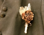 Rustic Wedding Boutoniere Pine Cone Lapel Pin Country Winter Forest Groom Corsages