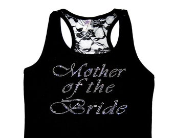 Mother of the Bride Gift, Mother of the Bride Lace Tank Top, Mother of the Groom Shirt, Mother of the Groom Gift, Wedding Gift, Lace Tank