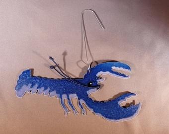 Metal Blue Lobster Ornament