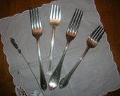 Antique Mix of Silverplate Forks (Set of 4)