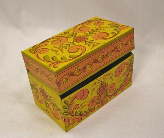 Retro Design Metal File Box