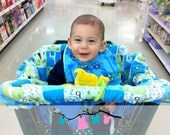Personalized reversible shopping cart cover