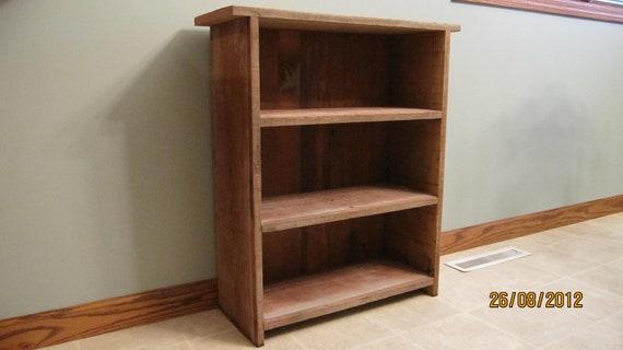 RESERVED for Robert S  --  Barnwood Bookshelf / Display case / 3 Shelfs