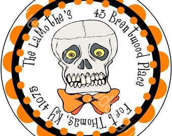 "1.67"" Round Address Label for Halloween"
