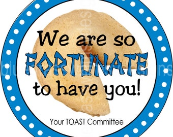 We Are Fortunate to Have You- Thank You Gift Tag/Label for Teachers and Staff