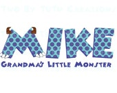 Disney Monster's Inc Personalized Name DIY Printable Iron On Shirt Transfer Sulley