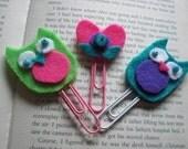 Funky felt bookmarks