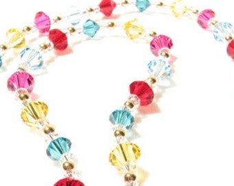 Candy Colored Crystal Necklace