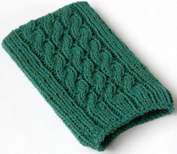 Knit Kindle Cover, Green Kindle 5 Case, Kindle 4 Sleeve, Kindle Touch Sock, Kindle Paperwhite Cozy