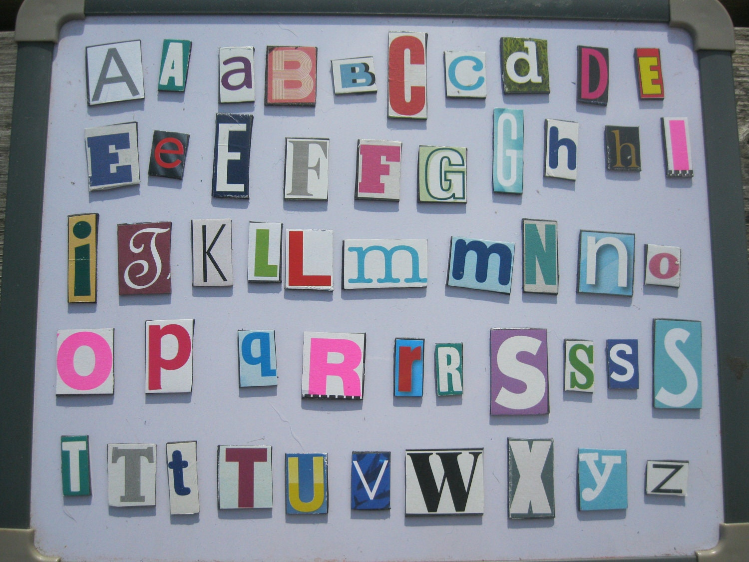 Alphabet fridge magnets by dandelionandclover on etsy for Letter fridge magnets game
