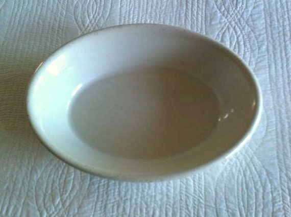 Vintage Farmhouse White Ironstone Serving Dish, Shabby Chic - Olives and Doves