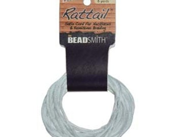 Gallant Blue 1mm Satin Cord / Rattail , 6 Yards, Kumihimo Cord, Item 973
