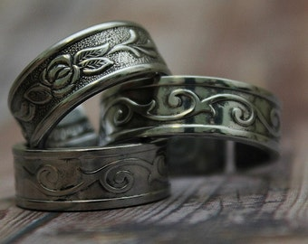 Spoon Ring Band, Select Your Style and Size
